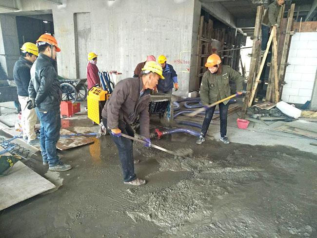 上海建工金鹰国际项目施工现场