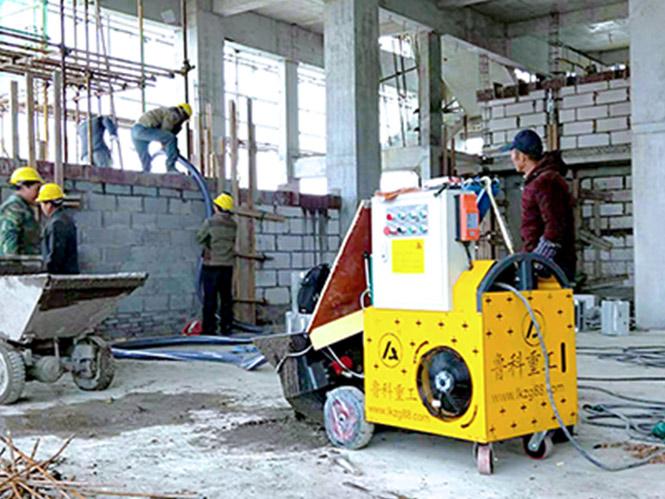 二次构造柱专用输送泵合作中铁建工河南段站房及相关工程