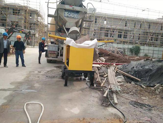 细石输送泵合作我乐家居全屋定制只能家具系统项目