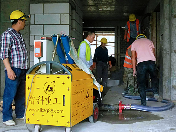 二次构造柱上料泵合作南通建工南航校区实验与研究中心项目