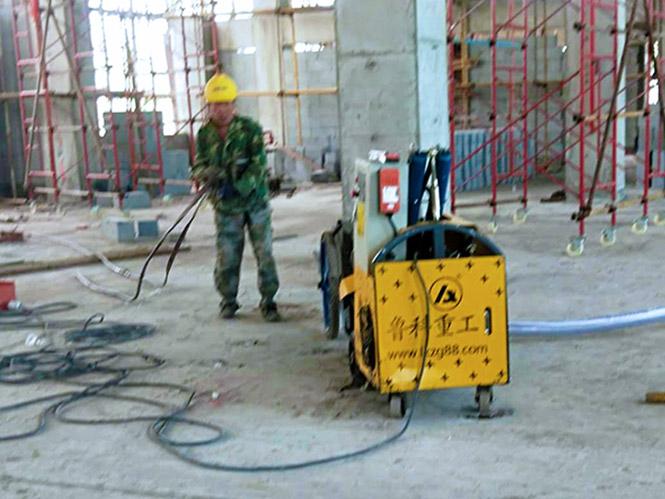 二次构造柱泵合作南通晟腾建设公司-韵达东山产业园项目