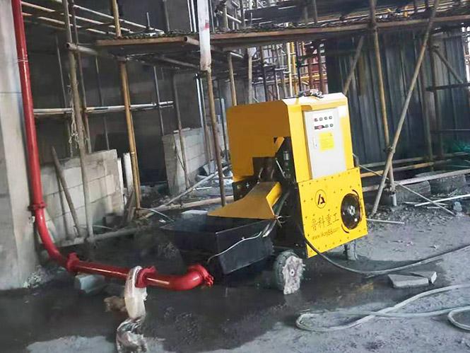 小型细石混凝土泵合作浙江二建海宁绿能环保项目[鲁科重工]