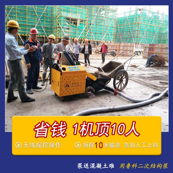 二次结构柱泵地泵