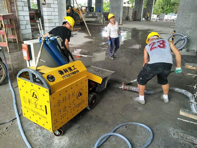 二次结构微型混凝土泵合作华西企业江阴敔山湾牡丹路项目