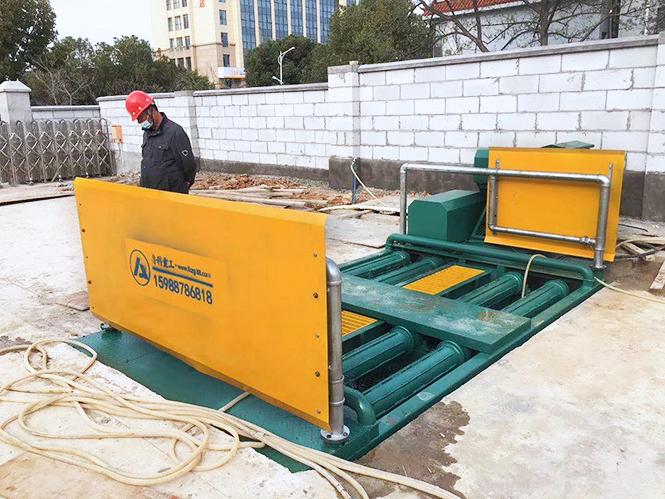 滚轴式洗轮机合作江苏邗建集团-南京溧水秀园西苑项目